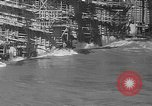 Image of uncompleted structure Bonneville Oregon USA, 1936, second 17 stock footage video 65675053237