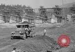 Image of uncompleted structure Bonneville Oregon USA, 1936, second 37 stock footage video 65675053237