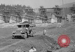 Image of uncompleted structure Bonneville Oregon USA, 1936, second 38 stock footage video 65675053237