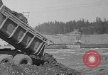 Image of uncompleted structure Bonneville Oregon USA, 1936, second 40 stock footage video 65675053237