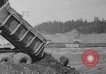 Image of uncompleted structure Bonneville Oregon USA, 1936, second 42 stock footage video 65675053237