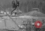 Image of uncompleted structure Bonneville Oregon USA, 1936, second 44 stock footage video 65675053237