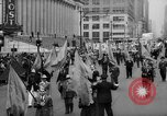 Image of May Day Parade New York City USA, 1941, second 20 stock footage video 65675053242