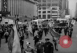 Image of May Day Parade New York City USA, 1941, second 30 stock footage video 65675053242