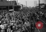 Image of Presidential candidate Wendell Willkie on the campaign trail Bloomington Illinois USA, 1940, second 23 stock footage video 65675053248