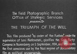 Image of Triumph of the Will Nuremberg Germany, 1934, second 9 stock footage video 65675053272