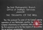 Image of Triumph of the Will Nuremberg Germany, 1934, second 11 stock footage video 65675053272