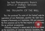 Image of Triumph of the Will Nuremberg Germany, 1934, second 16 stock footage video 65675053272