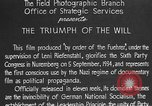 Image of Triumph of the Will Nuremberg Germany, 1934, second 17 stock footage video 65675053272