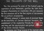 Image of Triumph of the Will Nuremberg Germany, 1934, second 22 stock footage video 65675053272