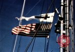 Image of Navy burial at sea Pacific Ocean, 1944, second 13 stock footage video 65675053282