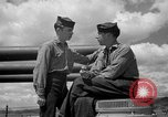 Image of sailors on deck Corregidor Island Philippines, 1945, second 15 stock footage video 65675053294