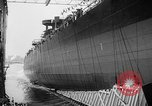 Image of cruiser USS Santa Fe CL-60 Camden New Jersey USA, 1942, second 6 stock footage video 65675053297