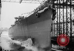 Image of cruiser USS Santa Fe CL-60 Camden New Jersey USA, 1942, second 10 stock footage video 65675053297