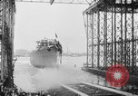 Image of cruiser USS Santa Fe CL-60 Camden New Jersey USA, 1942, second 19 stock footage video 65675053297
