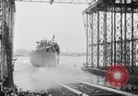 Image of cruiser USS Santa Fe CL-60 Camden New Jersey USA, 1942, second 20 stock footage video 65675053297