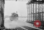 Image of cruiser USS Santa Fe CL-60 Camden New Jersey USA, 1942, second 21 stock footage video 65675053297