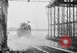 Image of cruiser USS Santa Fe CL-60 Camden New Jersey USA, 1942, second 22 stock footage video 65675053297