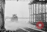 Image of cruiser USS Santa Fe CL-60 Camden New Jersey USA, 1942, second 25 stock footage video 65675053297