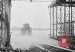 Image of cruiser USS Santa Fe CL-60 Camden New Jersey USA, 1942, second 27 stock footage video 65675053297