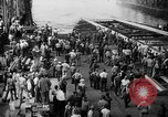 Image of cruiser USS Santa Fe CL-60 Camden New Jersey USA, 1942, second 31 stock footage video 65675053297