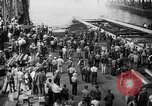 Image of cruiser USS Santa Fe CL-60 Camden New Jersey USA, 1942, second 34 stock footage video 65675053297