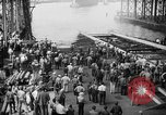 Image of cruiser USS Santa Fe CL-60 Camden New Jersey USA, 1942, second 35 stock footage video 65675053297