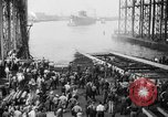 Image of cruiser USS Santa Fe CL-60 Camden New Jersey USA, 1942, second 36 stock footage video 65675053297