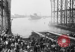 Image of cruiser USS Santa Fe CL-60 Camden New Jersey USA, 1942, second 37 stock footage video 65675053297