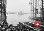 Image of cruiser USS Santa Fe CL-60 Camden New Jersey USA, 1942, second 38 stock footage video 65675053297