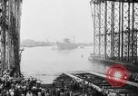 Image of cruiser USS Santa Fe CL-60 Camden New Jersey USA, 1942, second 41 stock footage video 65675053297