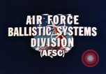 Image of Minuteman I and II missile Norton Air Force Base California USA, 1965, second 10 stock footage video 65675053323