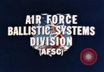 Image of Minuteman I and II missile Norton Air Force Base California USA, 1965, second 15 stock footage video 65675053323