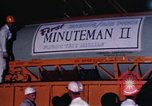 Image of Minuteman I and II missile Norton Air Force Base California USA, 1965, second 49 stock footage video 65675053323