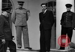 Image of Winston Churchill at Tehran Conference Tehran Iran, 1943, second 52 stock footage video 65675053419