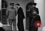 Image of Winston Churchill at Tehran Conference Tehran Iran, 1943, second 61 stock footage video 65675053419