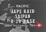 Image of Japanese planes Saipan Northern Mariana Islands, 1944, second 27 stock footage video 65675053486