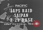 Image of Japanese planes Saipan Northern Mariana Islands, 1944, second 28 stock footage video 65675053486