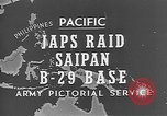 Image of Japanese planes Saipan Northern Mariana Islands, 1944, second 30 stock footage video 65675053486