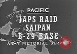 Image of Japanese planes Saipan Northern Mariana Islands, 1944, second 31 stock footage video 65675053486