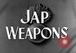 Image of Japanese weapons United States USA, 1943, second 24 stock footage video 65675053494