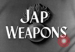 Image of Japanese weapons United States USA, 1943, second 25 stock footage video 65675053494