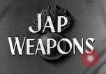 Image of Japanese weapons United States USA, 1943, second 27 stock footage video 65675053494