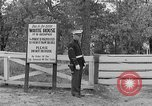 Image of President Roosevelt arriving at the Little White House Georgia United States USA, 1935, second 21 stock footage video 65675053527