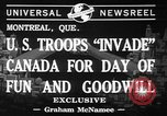 Image of United States troops Canada, 1941, second 2 stock footage video 65675053572