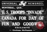Image of United States troops Canada, 1941, second 5 stock footage video 65675053572
