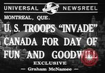 Image of United States troops Canada, 1941, second 6 stock footage video 65675053572
