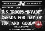 Image of United States troops Canada, 1941, second 7 stock footage video 65675053572