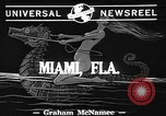 Image of water skiing Miami Florida USA, 1942, second 2 stock footage video 65675053585