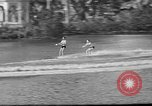 Image of water skiing Miami Florida USA, 1942, second 27 stock footage video 65675053585